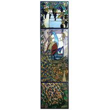 Meyda 77549 Tiffany Peacock Stained Glass Window