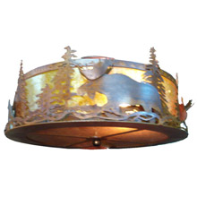 Meyda 77902 Moose At Dusk Flush Mount Ceiling Fixture