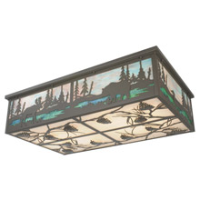 Meyda 81815 Wildlife At Pine Lake Flush Mount Ceiling Fixture
