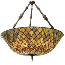 Meyda 82098 Tiffany Fishscale Inverted Pendant