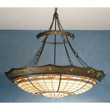 Meyda 82440 Tiffany Fleur-De-Lis Inverted Pendant