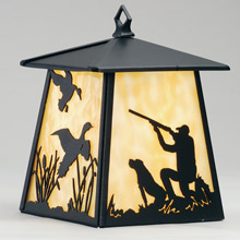 Meyda 82645 Duck Hunter With Dog Wall Sconce