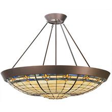 Meyda 82880 Tiffany Fleur-De-Lis Inverted Pendant