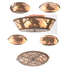 Meyda 99037 Wildlife On The Loose Flush Mount Ceiling Fixture