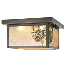 Meyda 99669 Hyde Park Winter Pine Flush Mount Ceiling Fixture
