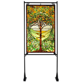 Tiffany Tree Of Life Lighted Display Stained Glass Window - Meyda 108834