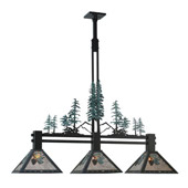 Rustic Winter Pine Island Light - Meyda 108987