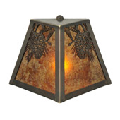 Rustic Winter Pine Wall Sconce - Meyda 111037