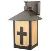 Craftsman/Mission Seneca Son's Solid Mount Wall Sconce - Meyda 112781