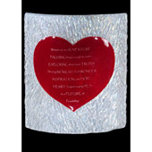 Novelty Personalized Heart Fused Glass Tabletop Panel - Meyda 114106