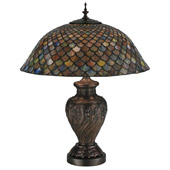 Tiffany Fishscale Table Lamp - Meyda 118588
