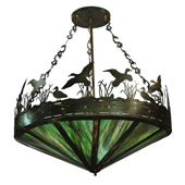 Rustic Flock of Ducks Large Pendant Chandelier - Meyda Tiffany 11907