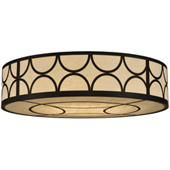Contemporary Cilindro Deco Flush Mount Ceiling Fixture - Meyda 133917