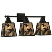 Rustic Ducks In Flight Vanity Light - Meyda 136926