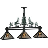 Rustic Winter Pine Island Light - Meyda 138248