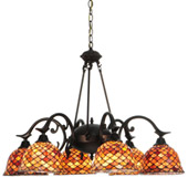 Tiffany Fishscale Chandelier - Meyda 140489