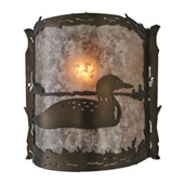 Rustic Loon Wall Sconce - Meyda 143377