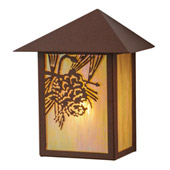Rustic Seneca Winter Pine Wall Sconce - Meyda 146868
