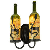 Tuscan Vineyard Personalized Wall Sconce - Meyda 148858