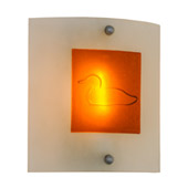 Contemporary Metro Fusion Loon Right Wall Sconce - Meyda 151394