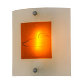 Contemporary Metro Fusion Loon Left Wall Sconce - Meyda 151395