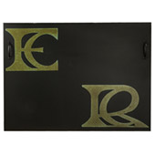 Personalized Monogram Fireplace Cover - Meyda 151681