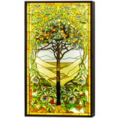 Tiffany Tree Of Life Led Backlit Window Box - Meyda 152459