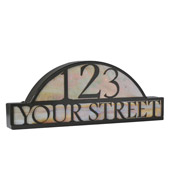 Novelty Personalized Street Address Sign - Meyda 18598
