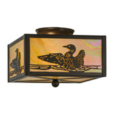Rustic Loon Flush Mount Ceiling Fixture - Meyda 18793
