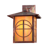 Craftsman/Mission Seneca Circle Cross Solid Mount Wall Sconce - Meyda 21916