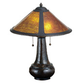 Craftsman/Mission Dirk Van Erp Mica Table Lamp - Meyda Tiffany 22210
