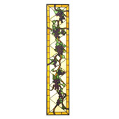 Tiffany Jeweled Grape Right Sided Stained Glass Window - Meyda 22912