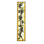 Tiffany Jeweled Grape Left Sided Stained Glass Window - Meyda 22913