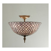 Tiffany Fishscale Semi-Flush Ceiling Fixture - Meyda 23310