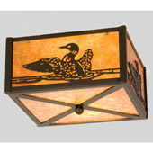 Rustic Loon Flush Mount Ceiling Fixture - Meyda 23988
