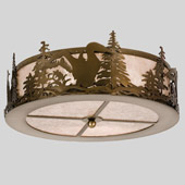 Rustic Loon Flush Mount Ceiling Fixture - Meyda 24469