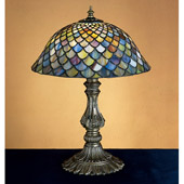 Tiffany Fishscale Accent Lamp - Meyda 26673