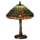 Tiffany Dragonfly W/ Twisted Fly Mosaic Base  Accent Lamp - Meyda 26683