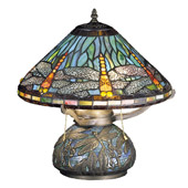 Tiffany Dragonfly Mosaic Accent Lamp - Meyda Tiffany 27159