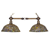 Tiffany Fishscale Island Light - Meyda 27410