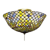 Tiffany Fishscale Flush Mount Ceiling Fixture - Meyda Tiffany 27437