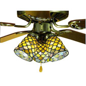 Tiffany Fishscale Fan Light Shade - Meyda 27470