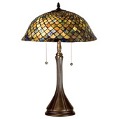 Tiffany Fishscale Medium Table Lamp - Meyda Tiffany 28369