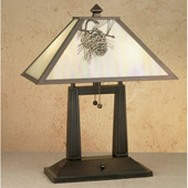 Rustic Pine Cone Table Lamp - Meyda Tiffany 28643