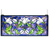 Tiffany Magnolia Stained Glass Window - Meyda 30705