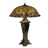 Tiffany Fishscale Table Lamp - Meyda 31115
