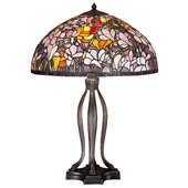Tiffany Magnolia Table Lamp - Meyda 31146