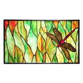 Tiffany Dragonfly Stained Glass Window - Meyda 37511