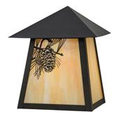 Rustic Stillwater Winter Pine Indoor/Outdoor Wall Sconce - Meyda 43128