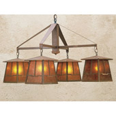 Craftsman/Mission Bungalow Mica Four Light Chandelier - Meyda Tiffany 47703